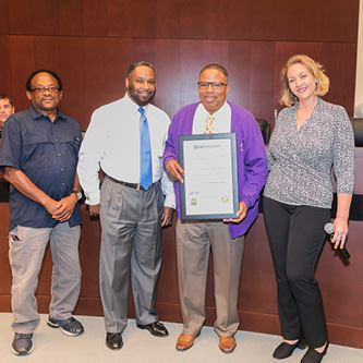 Councilwoman Bailey Honors Bonnie King and Omega Psi Phi Pi Nu Chapter with Special Proclamations