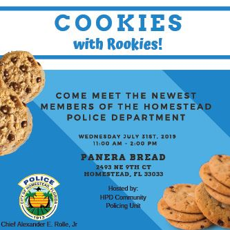 Cookies with Rookies July 2019