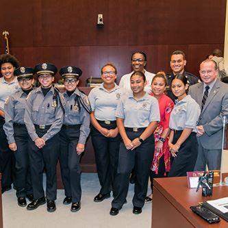 Councilman Roth Honors Police Explorers 2019