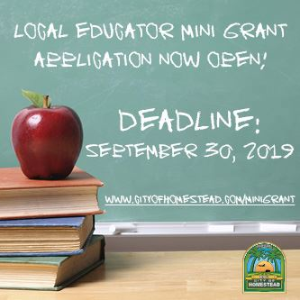Education Mini Grant Flyer 2019