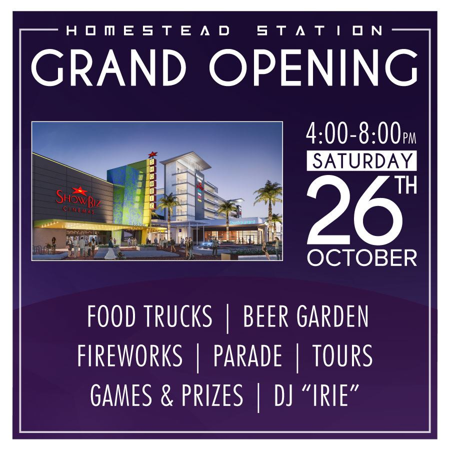 Homestead Station Grand Opening Graphic