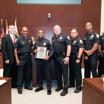 Mayor Shelley Officer of the Month August 2019