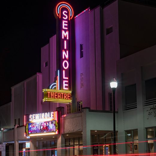 Seminole Theatre at Night