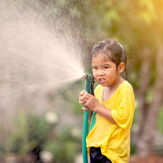 Girl with Hose