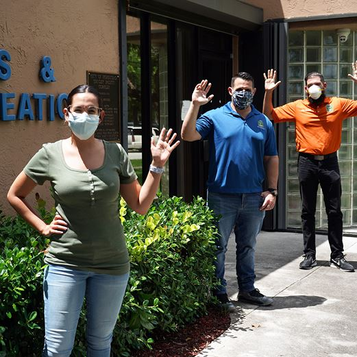 Parks Staff in Masks