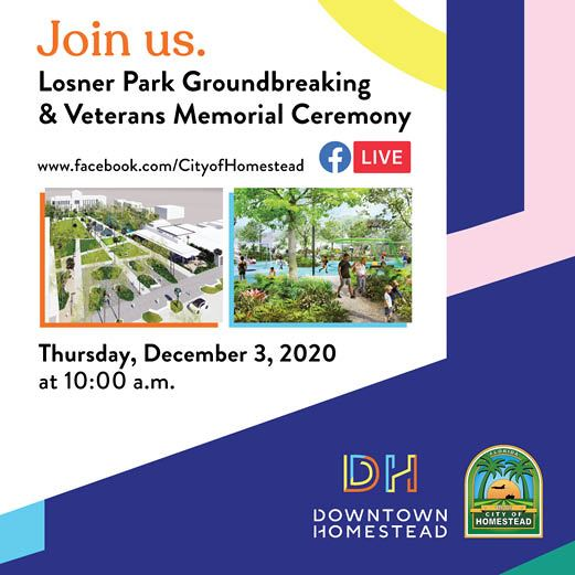 Losner Park Groundbreaking Invitation Web News