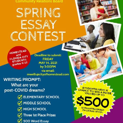 CRB Spring Essay Contest Flyer 2021