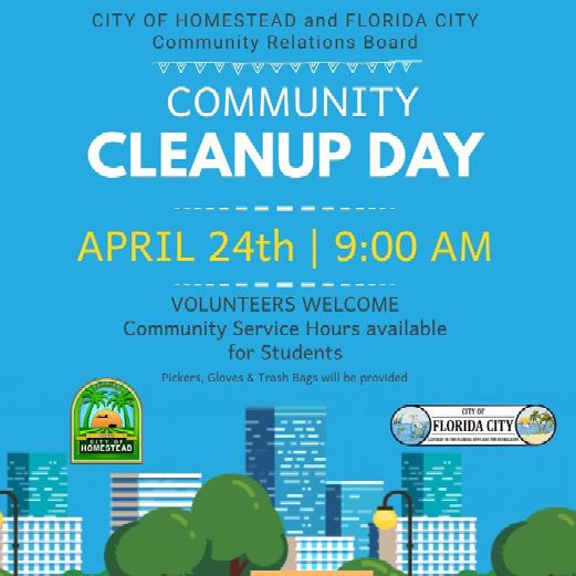 CRB Spring Community Cleanup Flyer 2021